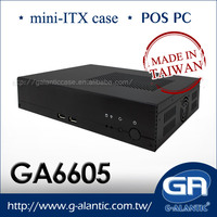 GA6605 - computer case mini itx/custom branded pc case with 180W power supply