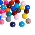 Acrylic Spacer Beads Round At Random About 14mm Dia