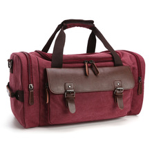 custom mens canvas leather travel bags from yiwu