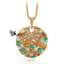 Gold Jewelry For Women,Necklace Designs,Crystal Necklace With Long Chain Hot Sale