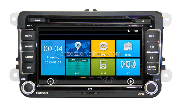 In dash car stereo for VW Golf 5/6/Multivan T5 double din car stereo with GPS RDS BT 3G TV car dvd radio stereo system