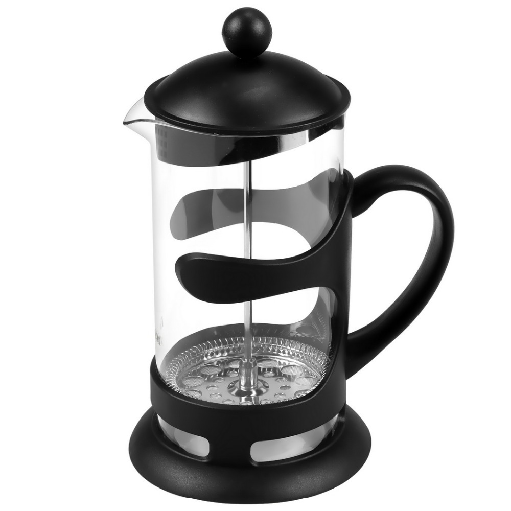 New French Press Coffee Espresso Maker 1000ML Heat Resistant Glass Carafe kettle with <strong>Stainless</strong> Steel Plunger Lid 2pcs Extra Fil