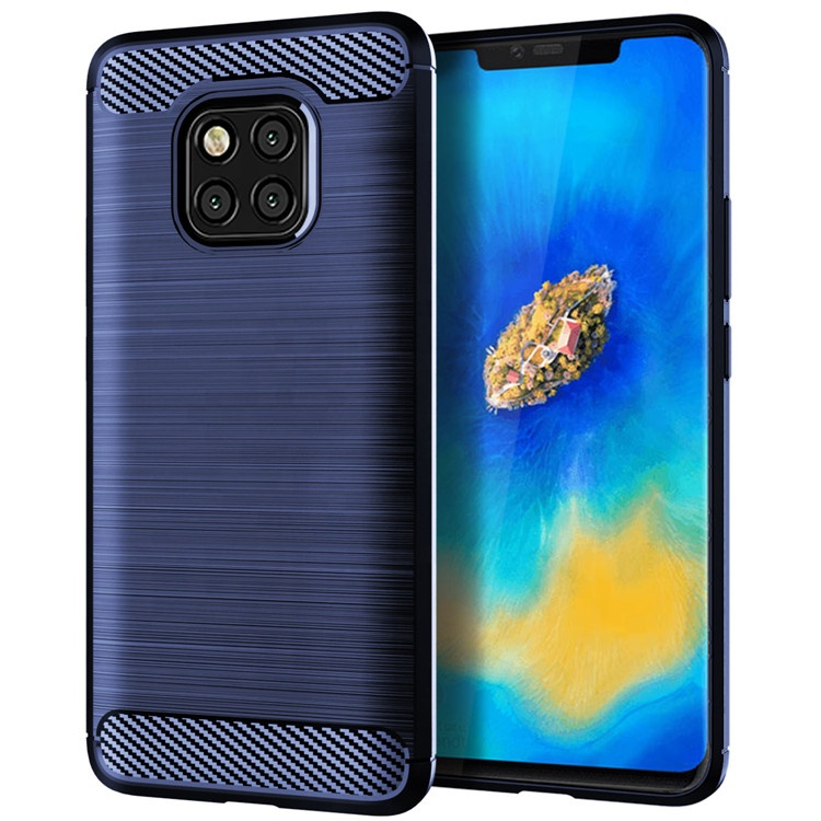 Slim design carbon fiber texture Phone case cover for Huawei Mate 20 pro Nova <strong>2</strong> plus Mate se