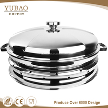 Wholesale cheap malaysia ceramic divided buffet chafing dish round food warmer used catering equipment