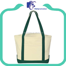 Wholesale natural cotton canvas tote bag with long handle