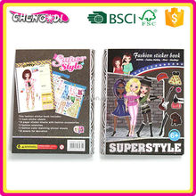 Various Fashionable girls sticker book, gift for kids, funny stickers