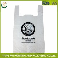 Printing T-Shirt Bags on Roll with Printing, HDPE Material Plastic Bags, Vest Carrier Grocery Bags