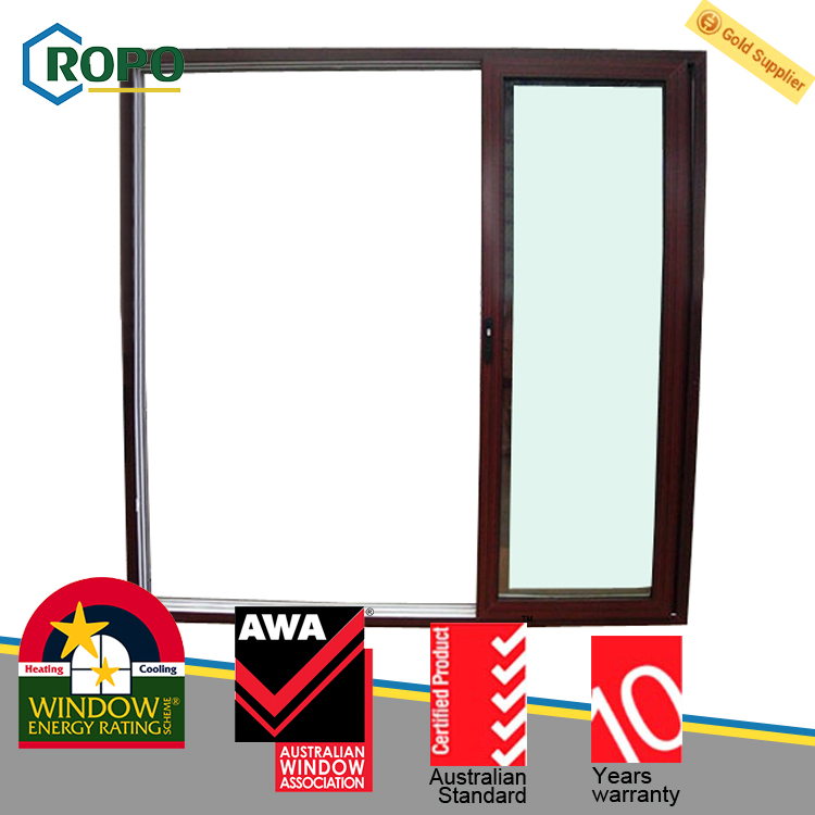 Triple Glass UPVC/PVC Plastic 3 Panel Sliding Glass Door Design