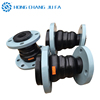Maximum deflection rubber expansion pipe joints with reinforced steel wire