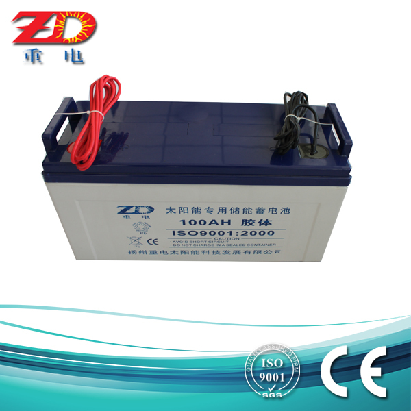 12v 100ah VRLA solar battery gel battery rechargeable AGM battery