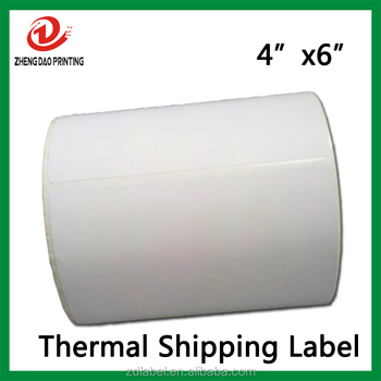 "Sticker Roll 250 4"" x 6"" Zebra 2844 Eltron Direct Thermal Shipping Printer 250 Labels"
