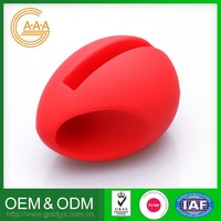 Fashion Style Wholesale Customized Cell Phone Stand Speaker Newest Design Silicone Egg Speaker For Iphone
