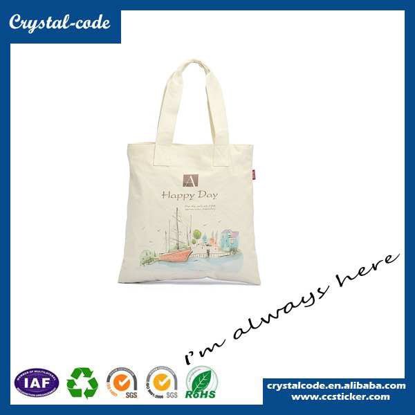 Free Sample Serviceable Cotton Canvas Tote Cloth Carrying Bag