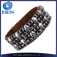 2016 Online Shopping Double Row Ally Express Wholesale Skull Bracelet