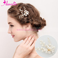 5pieces Petal Flower With Pearl Wedding Bobby Pin Hair Accessories Bridal Hair Pin