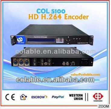 COL5100 CATV digital headend advanced HD ACV/H.264 IP audio encoder, SDI h.264 hd encoder iptv, HD/SD-SDI Hdmi to ip encoder