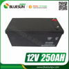 Bluesun best seller 3years warranty high quality gel 12v 250ah solar panel battery
