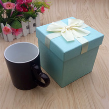 High-end discoloration cup gift box custom lid mug gift box with bubble