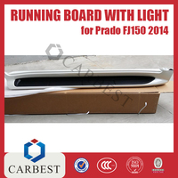 HIGH QUALITY RUNNING BOARD WITH LIGHT(LX570 STYLE) FOR TOYOTA PRADO FJ150 2015