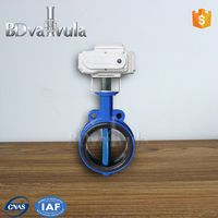 agricultural irrigation valve Electric modulating wafer butterfly valve