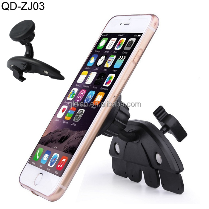 SZQIDIAN New Product For Car CD Slot Magnetic Car Phone Mount Car Holder Magnet for Smartphone