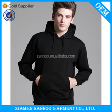 Kangaroo Pocket Customized Wholesale Plain Black Hoodie