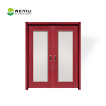 Modern Double Interior Walnut Wood Exhibition Hall Interior Door
