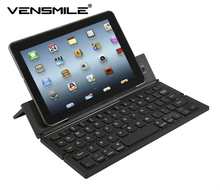 Vensmile newest portable foldable bT mini keyboard with battery for IOS Android phone Black Computer keyboard