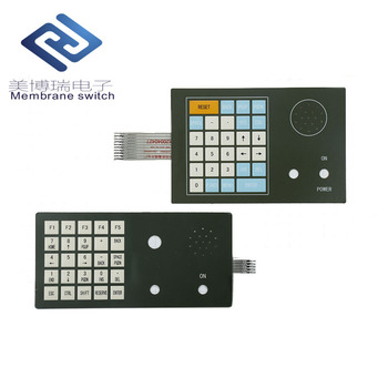 OEM professional embossed push button tactile membrane switch panels