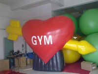 high quality big pvc heart shaped balloons for advertising