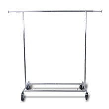 Retail Store Metal Chrome Extanding Garment Display Rail clothing rack