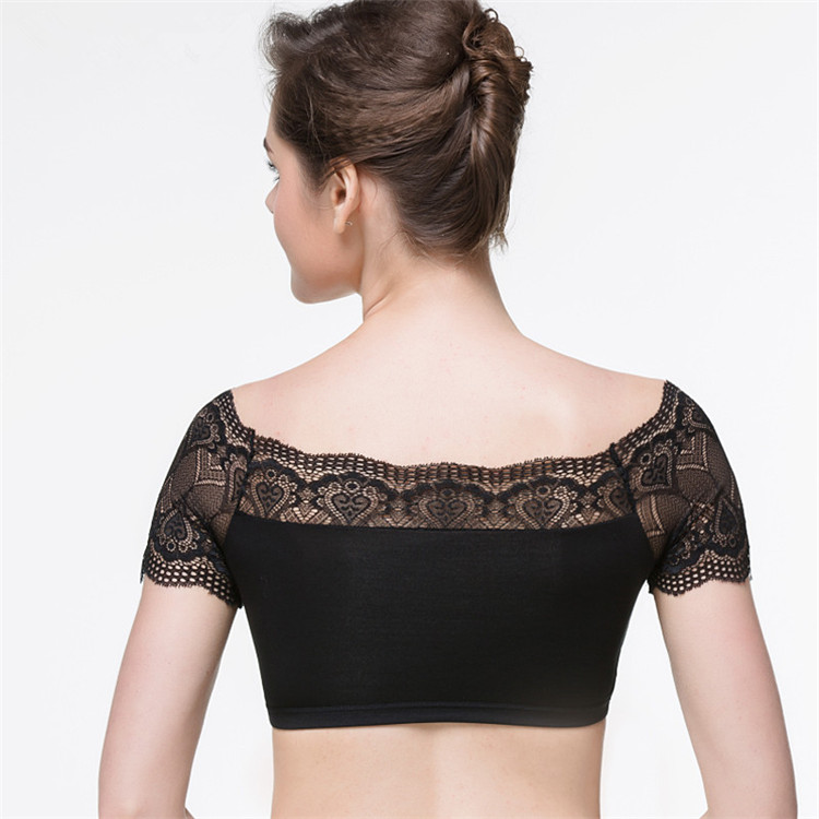 Factory supplier comfort sexy lace vest bra tube women's off shoulder underwear