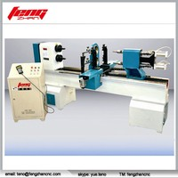 double spindles cnc wood lathe with double cutters