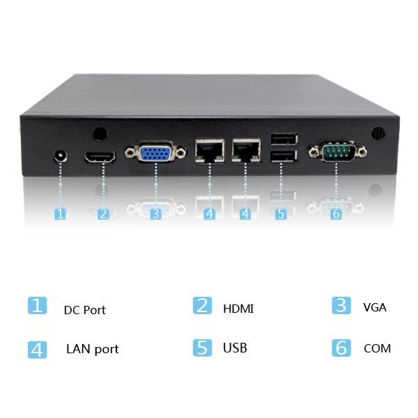 1037u embedded celeron dual nic fanless desktop business pc 8g ram 128g ssd 1TBHDD server support full screen Ubuntu XBMC