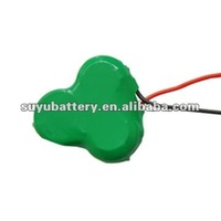 3.6v 80mah nimh battery rechargeable button cell battery pack