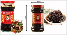 Chinese popular Lao Gan Ma Angry Lady Sauce, Spicy Chilli Sauce Jam Black bean hot sauce