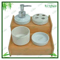 Eco-friendly walmart bamboo bath bathroom set