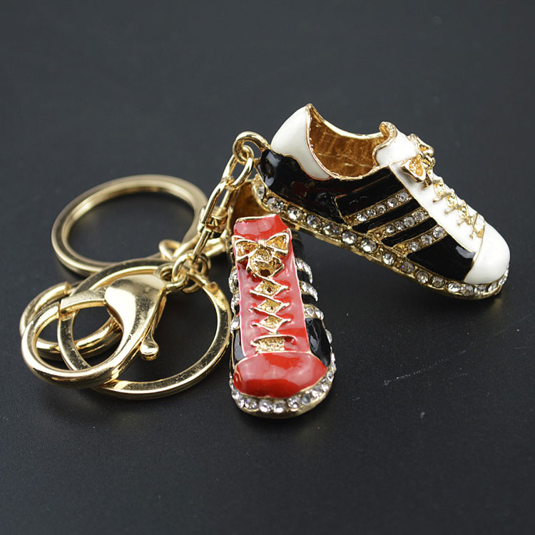 2018 World Cup Souvenir mini soccer shoes keychain custom key chain in stock