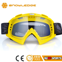 yellow TPU frame EN174 certificate mx bike anti fog motocross eyewear