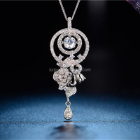 JP0547- Noble Jewelry 925 Silver Necklace Pendant Can be Customized Pearl Jewelry