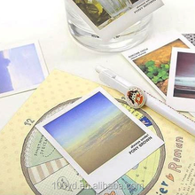 Full color printing birthday gift top quality unique custom shaped postcards
