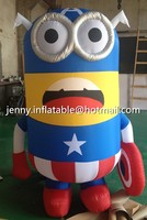 Customize 2m inflatable Minions cartoon