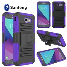 Rugged Impact PC+Silicone Hybrid Cell Phone Case Cover For Samsung Galaxy J3 2017 J3 Emerge Sprint Case With Stand