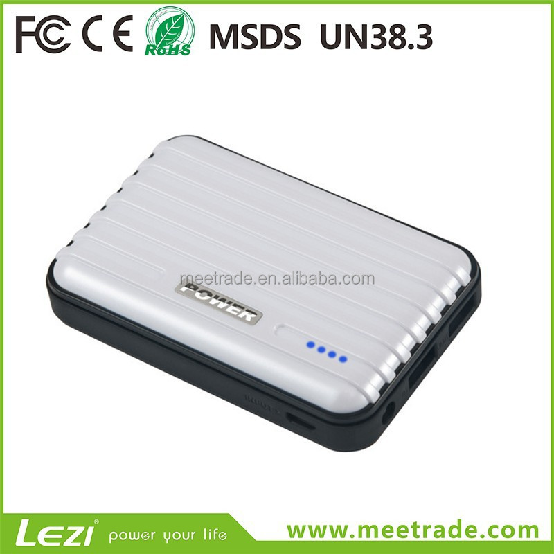 Mobile power 20000mAh 2 USB ports mobile phone portable charger