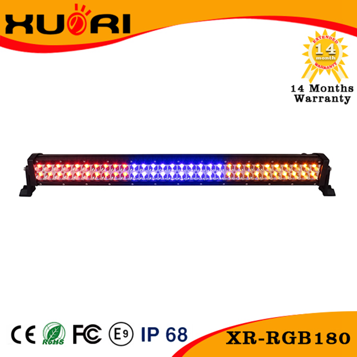 RGB Security Car Strobe light tractor Remote control led Warning Lightbar Cheap 180w led working lights