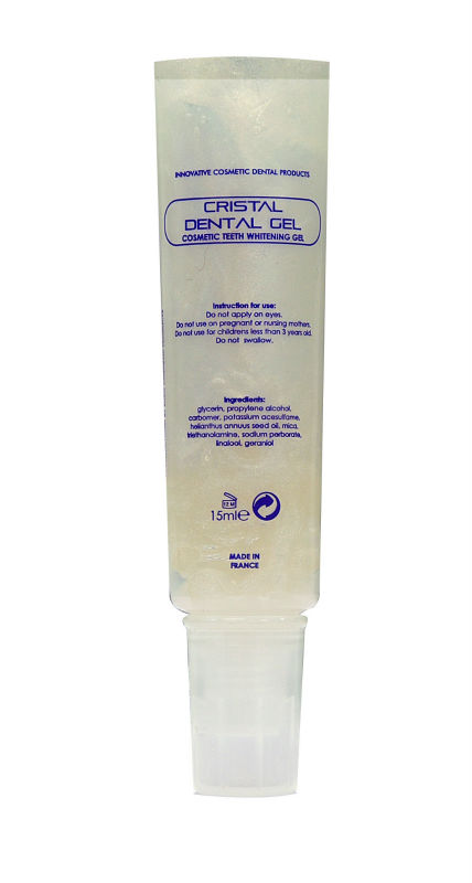 Tooth whitening gel tube