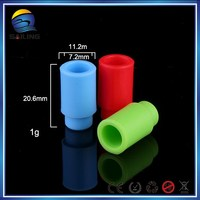 Electronic cigarette 510 Disposable silicone rubber drip tips, soft drip tips