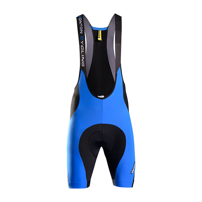 Monton 2015 Men's Blue Bib Cycling Shorts Padded Wholesale