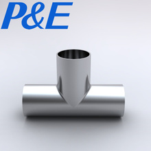 Factory price 3A sanitary stainless steel pipe fitting weld equal tee