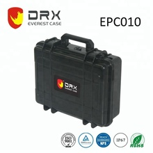 EVEREST/DRX black small hard plastic case with pick N pluck foam